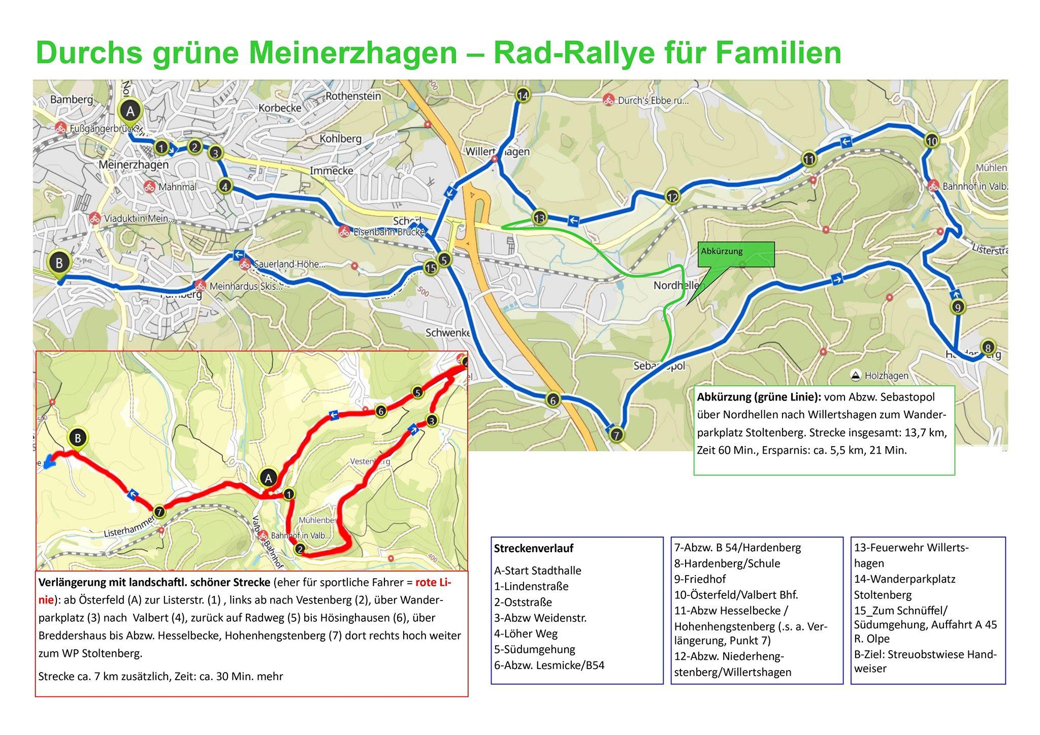 """Radrallye """"Das Grüne Meinerzhagen er-fahren"""""""